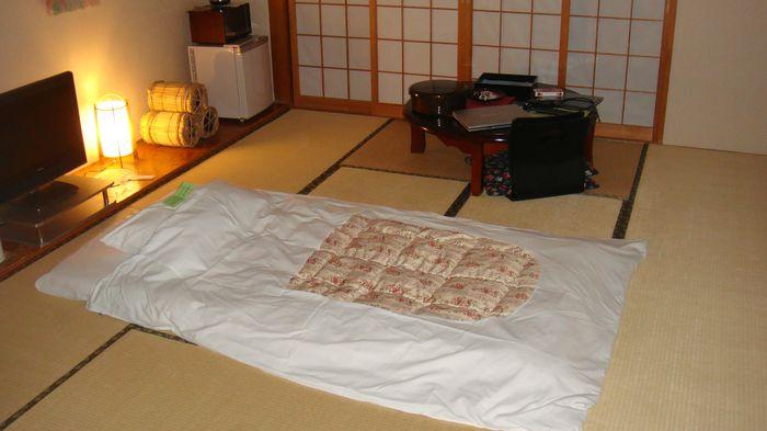 Futon et bureau japonais